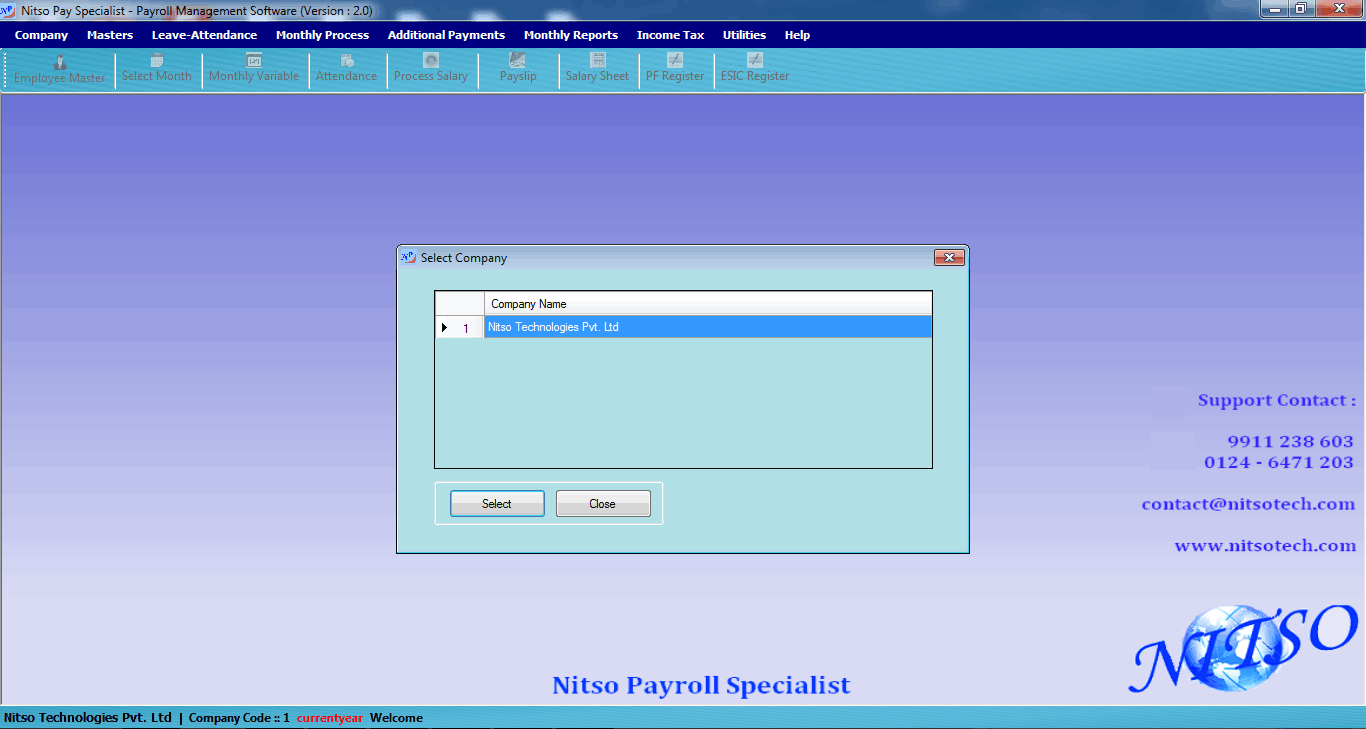Nitso Payroll Software