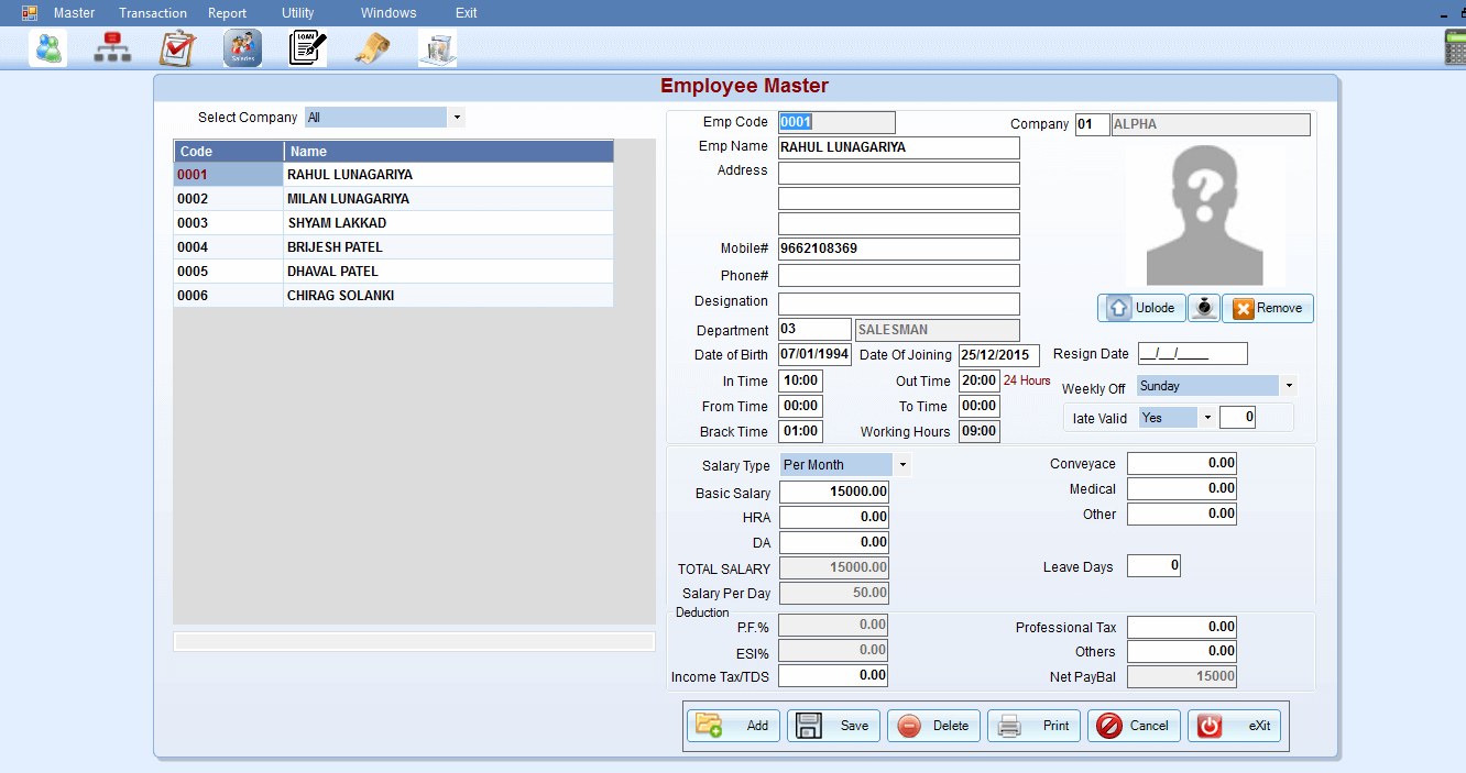 payroll software report