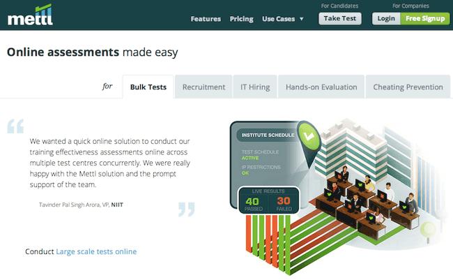 Mettl Online Assessment Screenshots