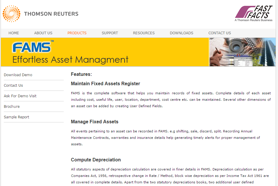FAMS Assets Management Screenshots