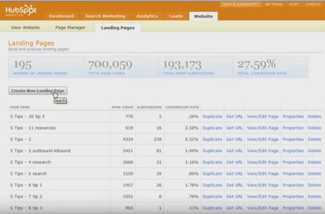 HubSpot Screenshots