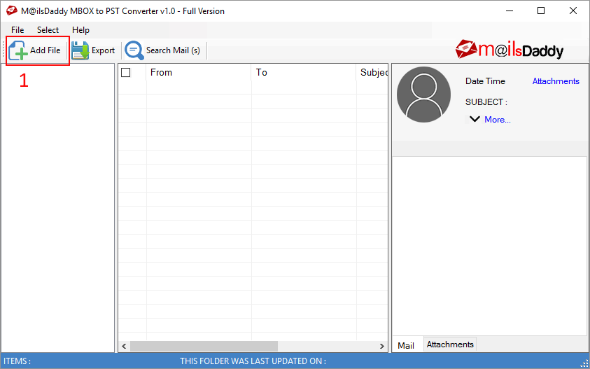 MailsDaddy MBOX to PST Converter Screenshots