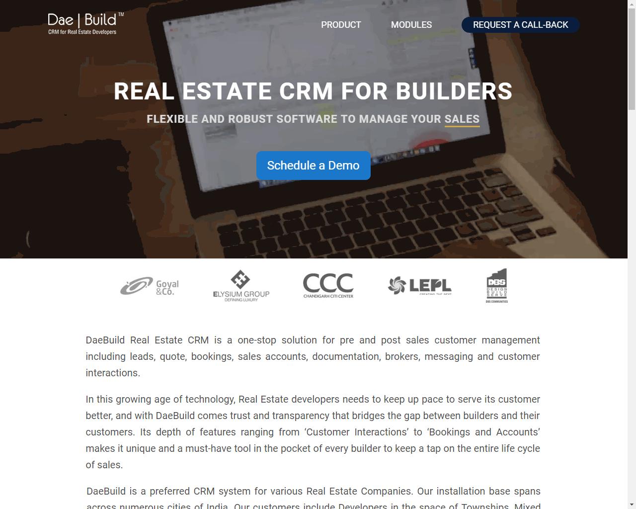 DaeBuild Real Estate CRM Software