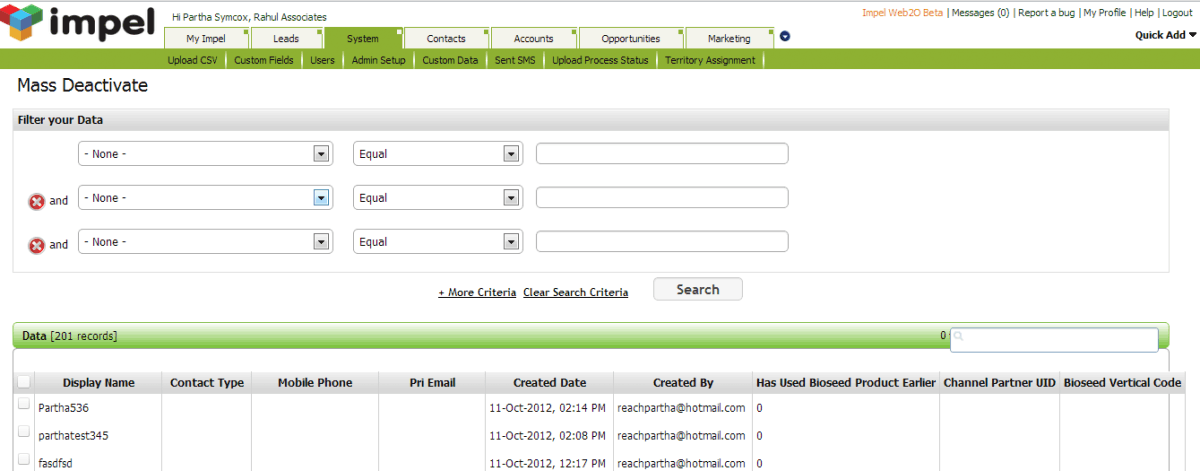 ImpelCRM Screenshots