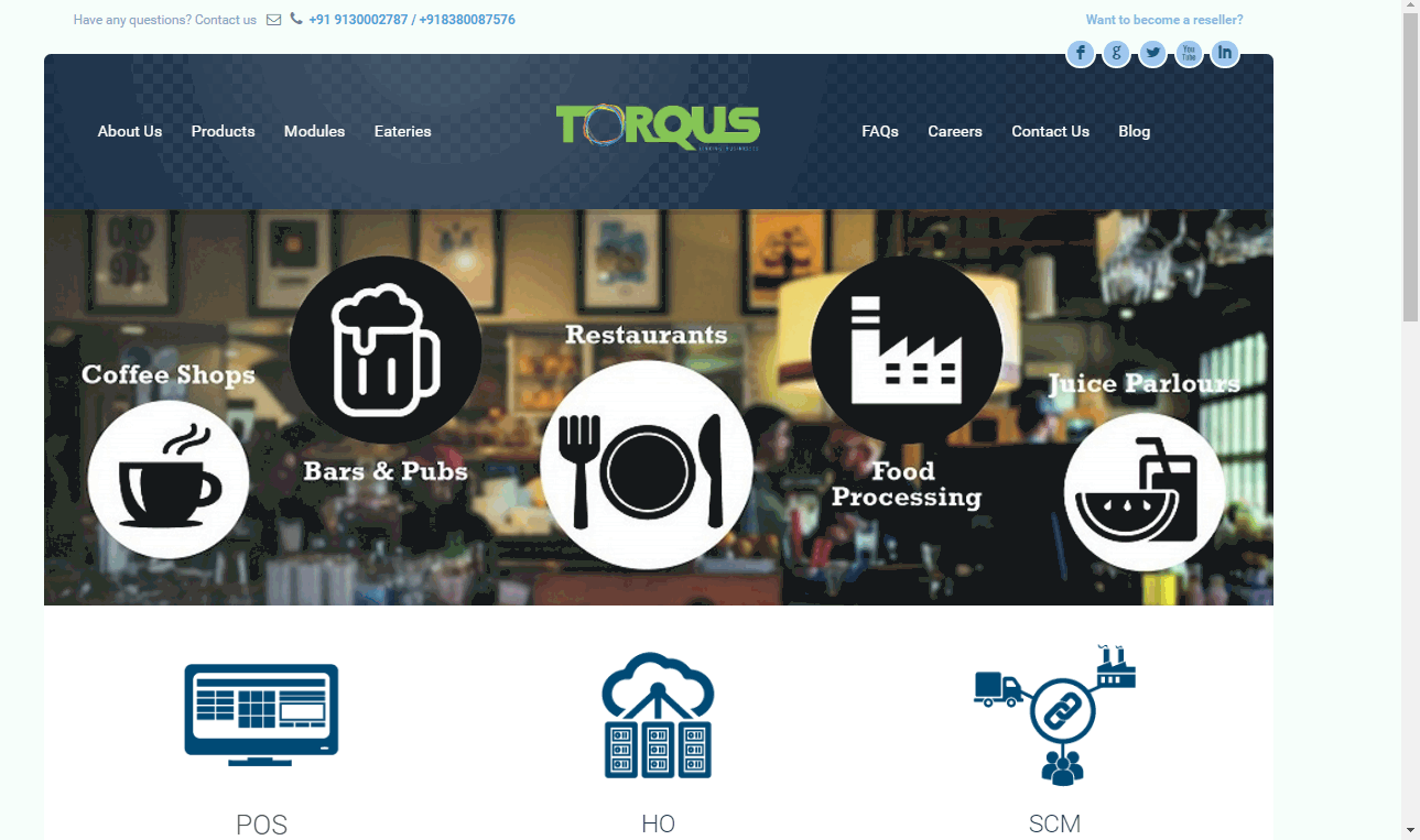 Torqus POS Screenshots