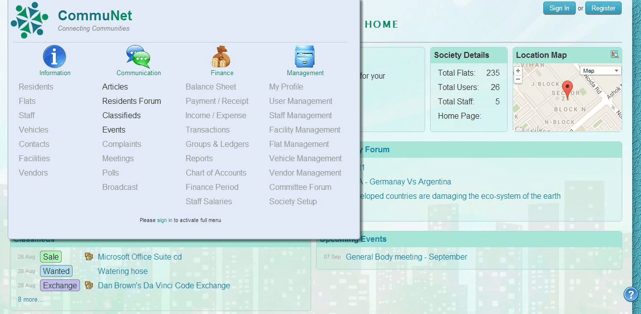 CommuNet Screenshots