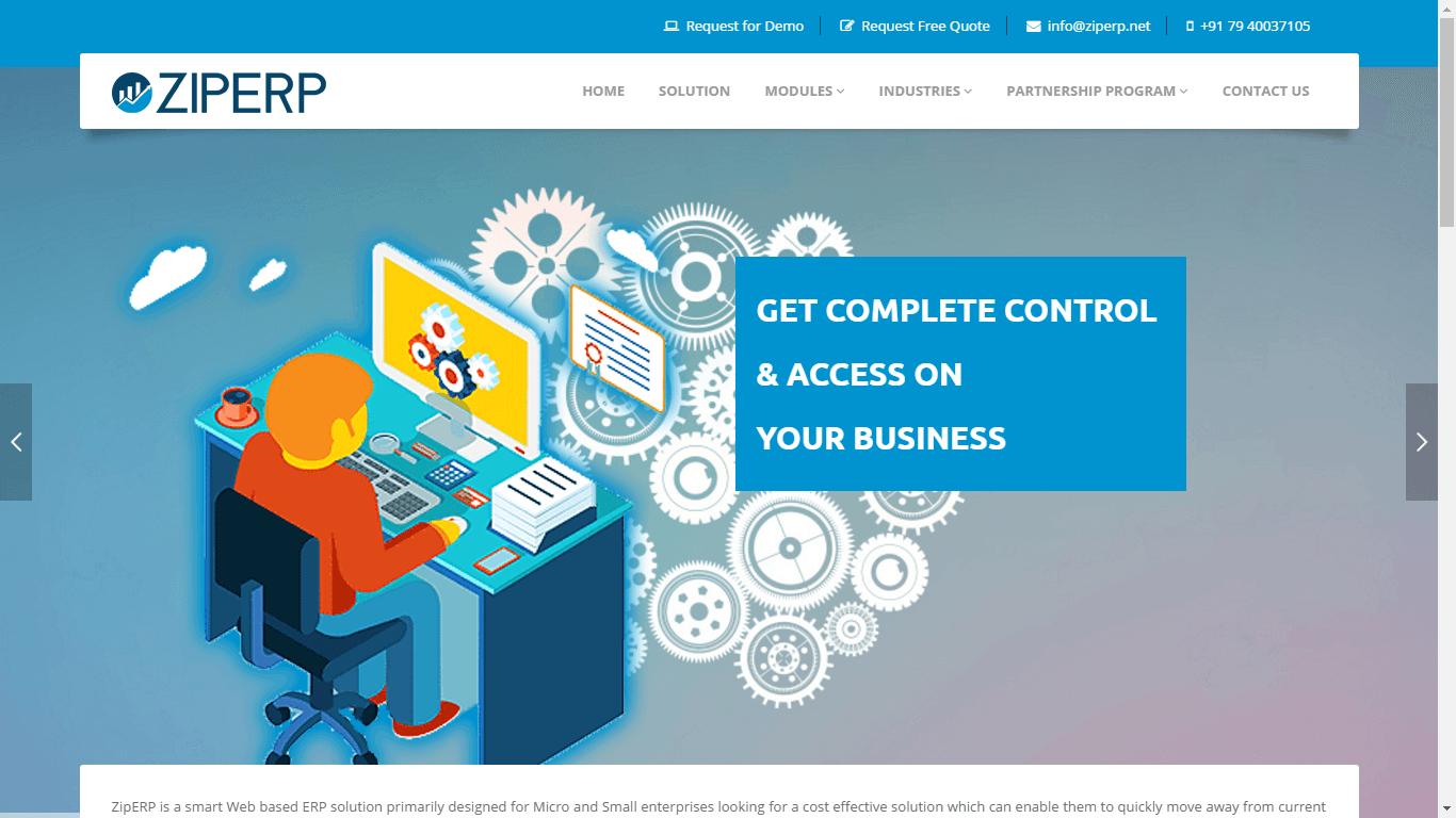 ZipERP Screenshots