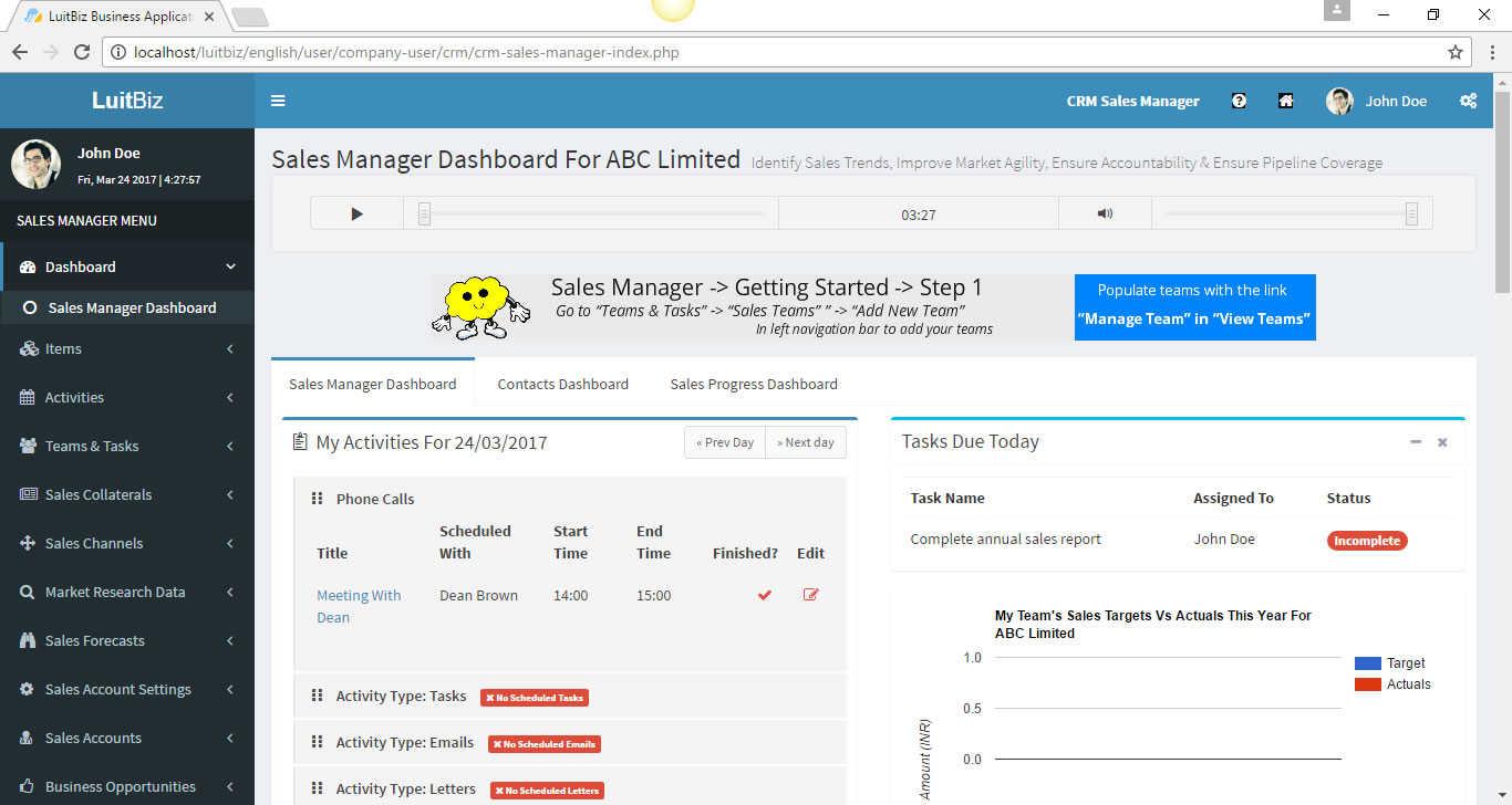 LuitBiz CRM Screenshots