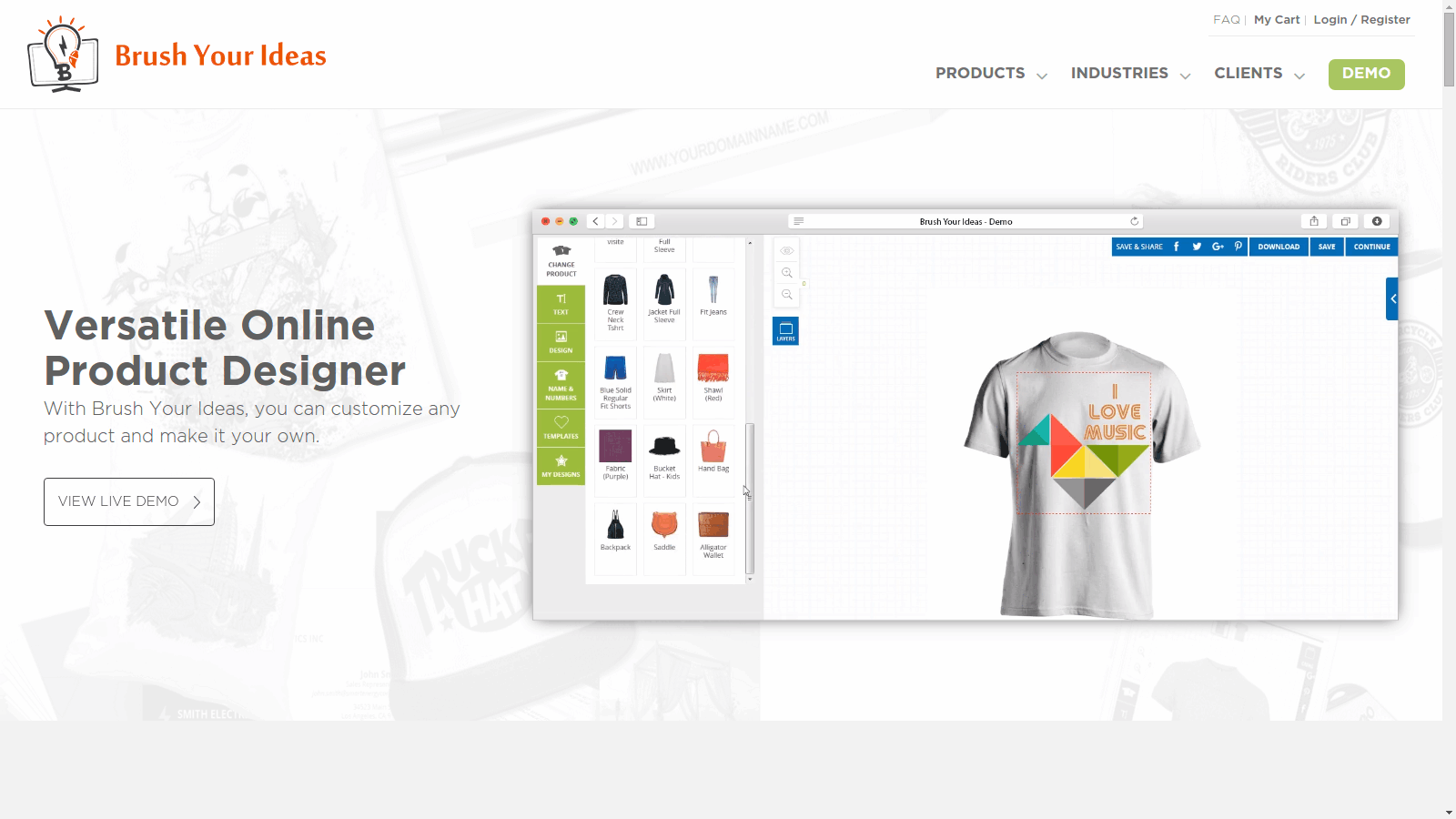 Design your t shirt software - Web To Print Software Brush Your Ideas