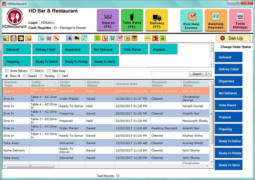 HDRestaurant  Screenshots