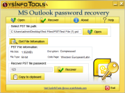 SysInfo PST Password Recovery Tool Screenshots