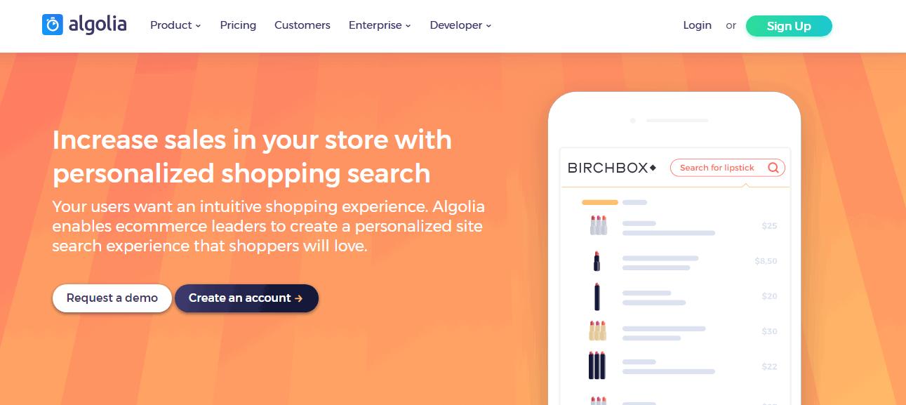 Algolia Ecommerce Screenshots