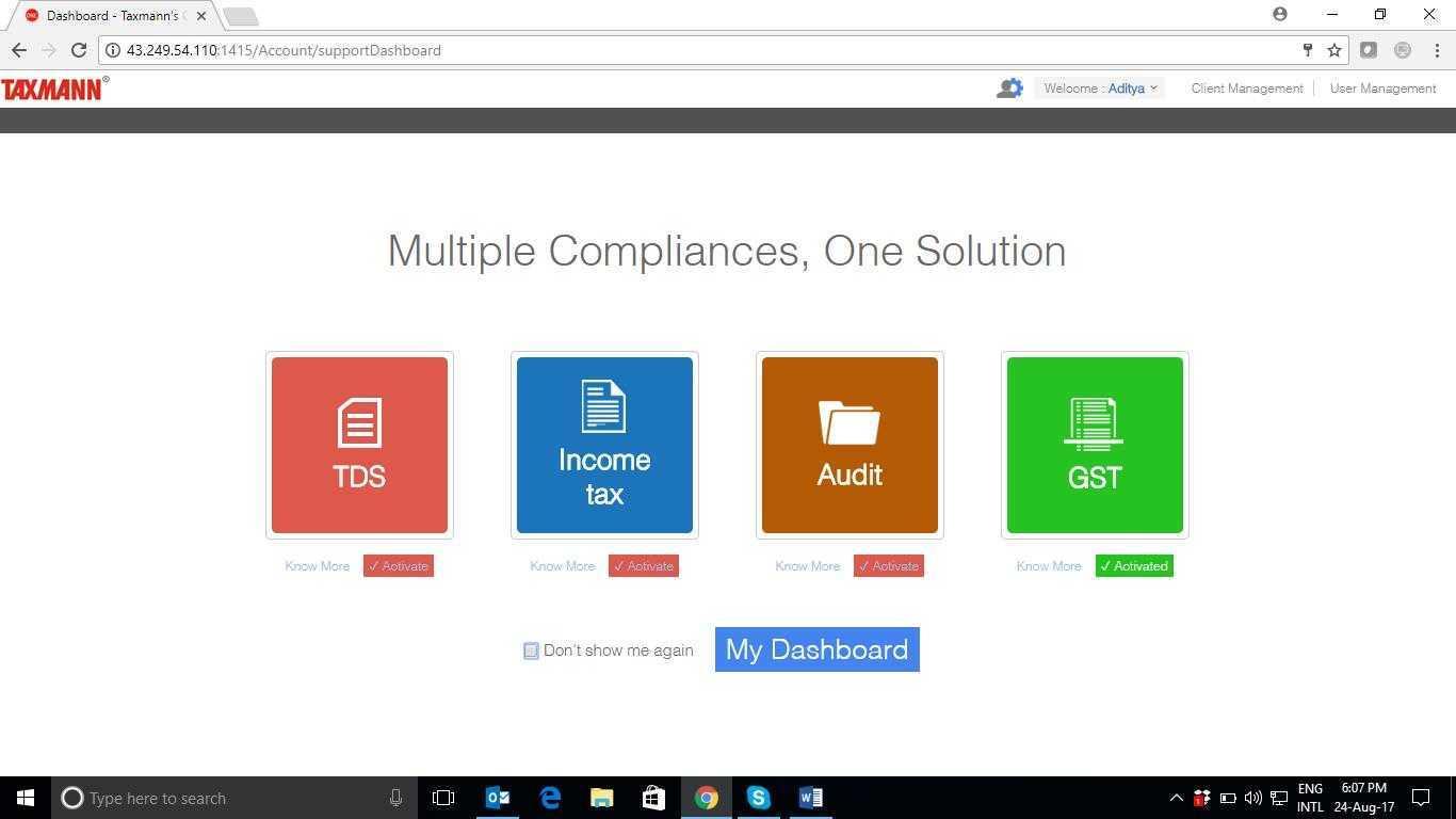 Taxmanns One Solution Screenshots
