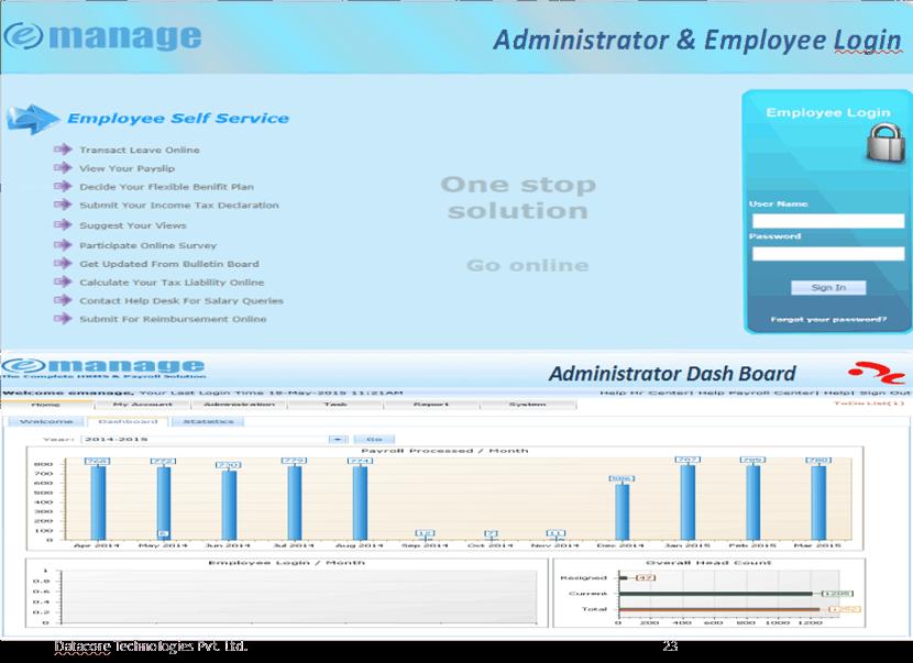 E-Manage payroll Outsourcing Screenshots
