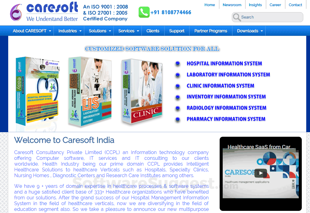 Caresoft Hospital Information System Pricing, Features & Reviews