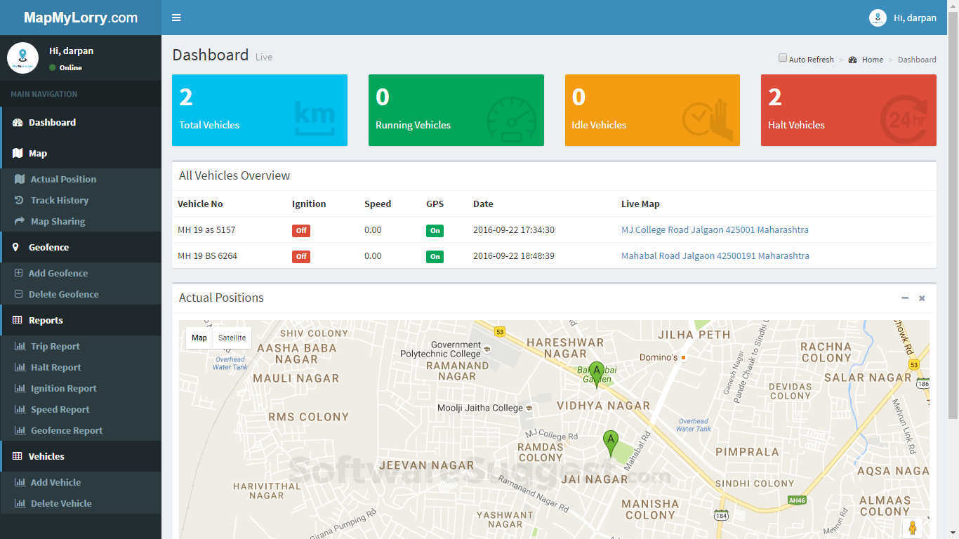 MapMyLorry Vehicle Tracking software Pricing, Features