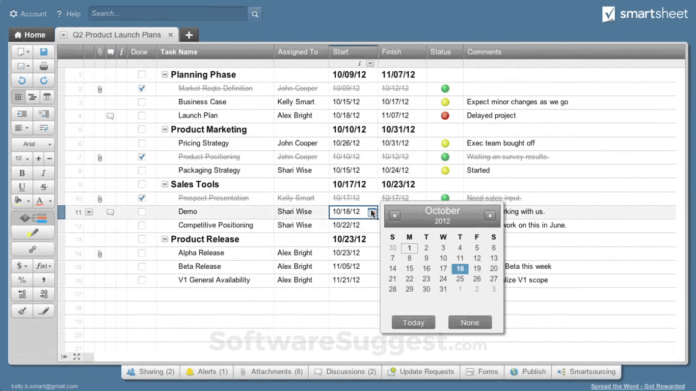 Wrike vs Smartsheet Comparison in 2019