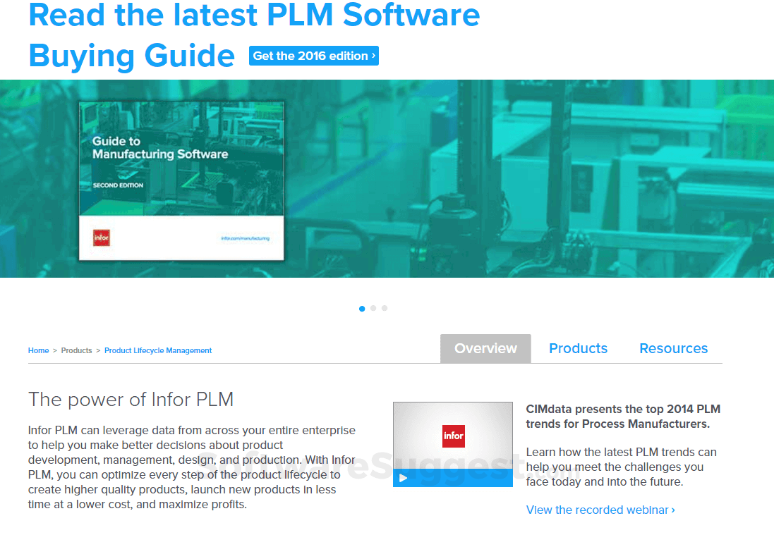 Infor PLM Pricing, Features & Reviews 2019 - Free Demo