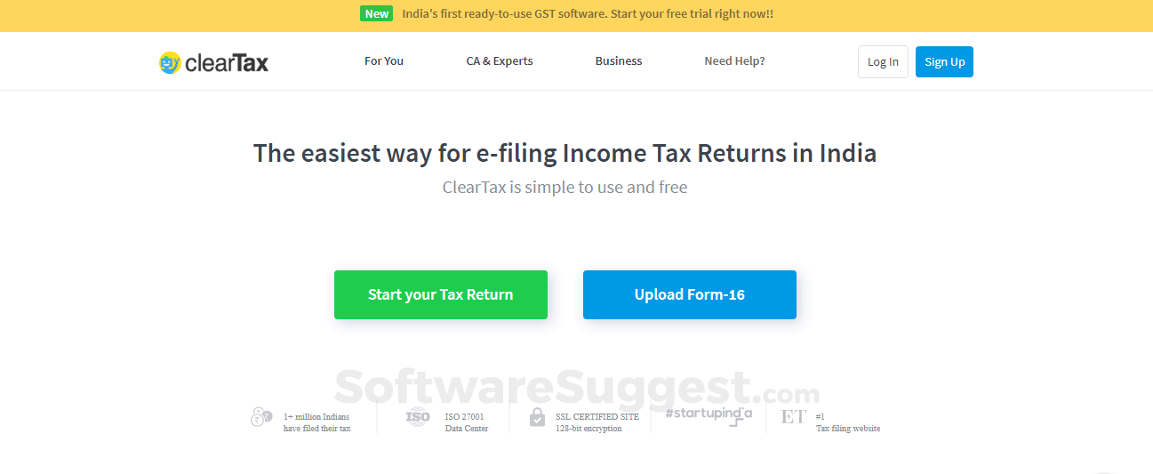 ClearTax Pricing, Features & Reviews 2019 - Free Demo