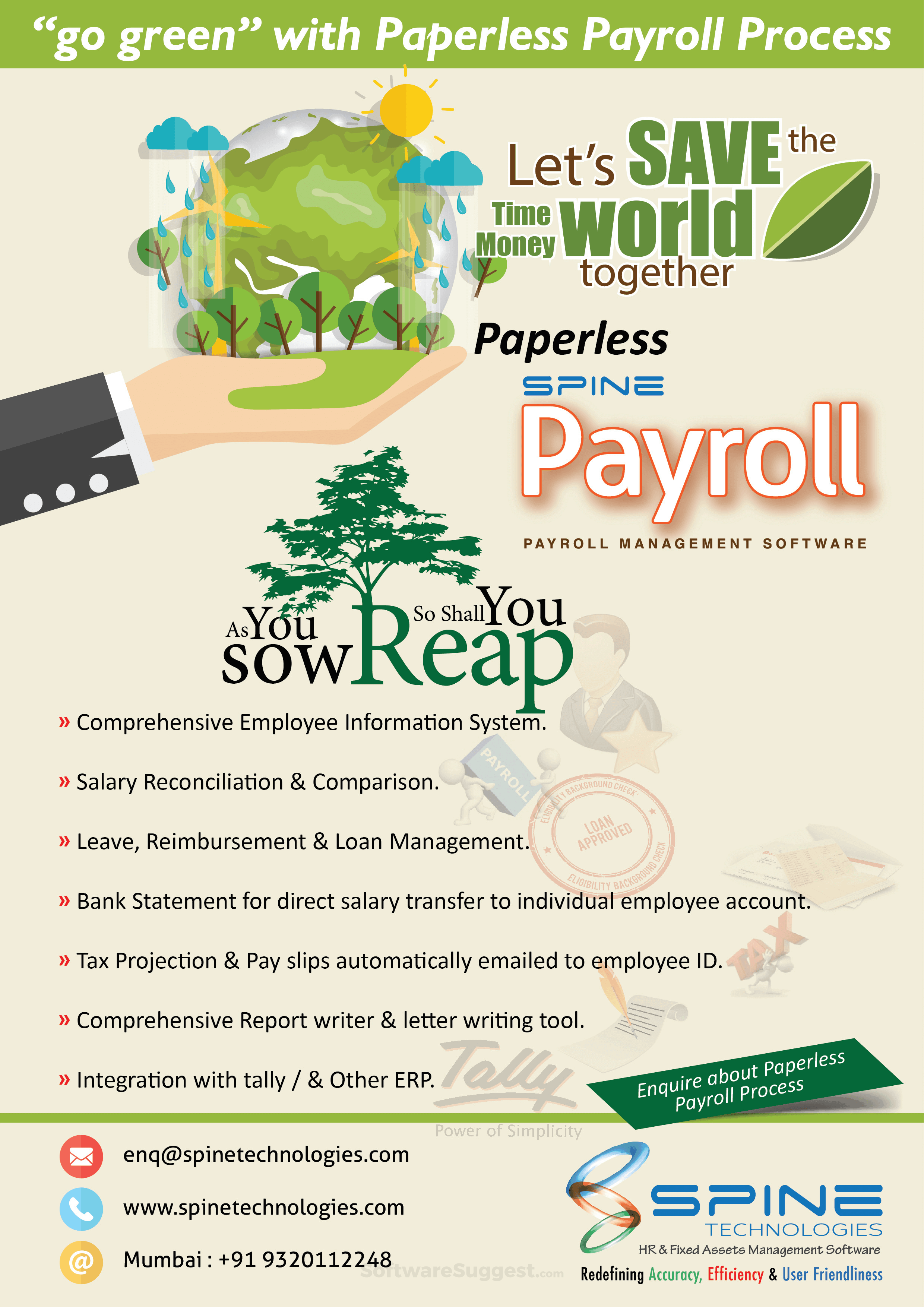 Spine Payroll Pricing, Features & Reviews 2019 - Free Demo
