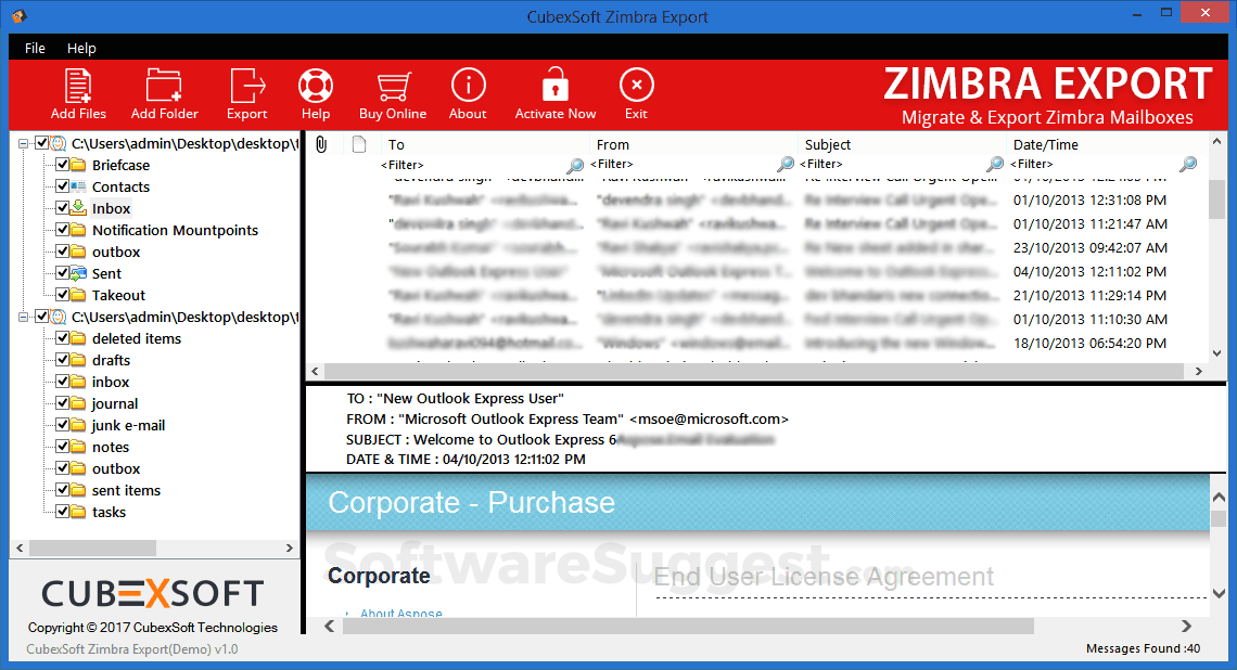 CubexSoft Zimbra Export Pricing, Features & Reviews 2019 - Free Demo