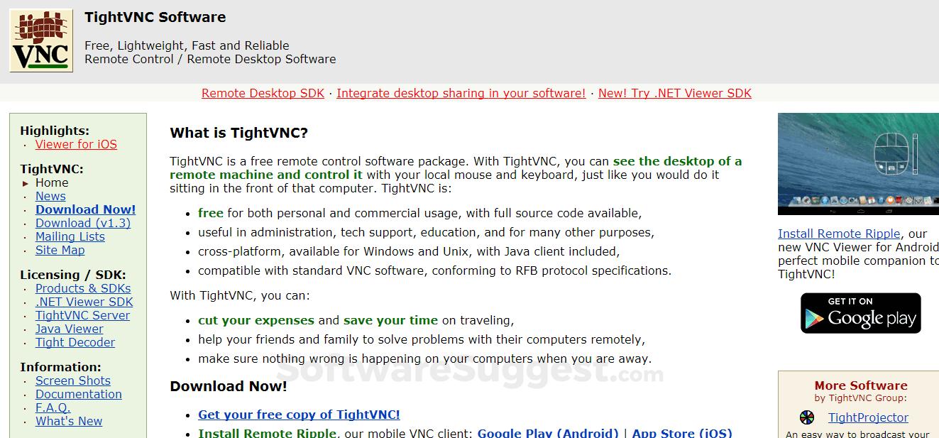 AnyDesk vs TightVNC Comparison in 2019