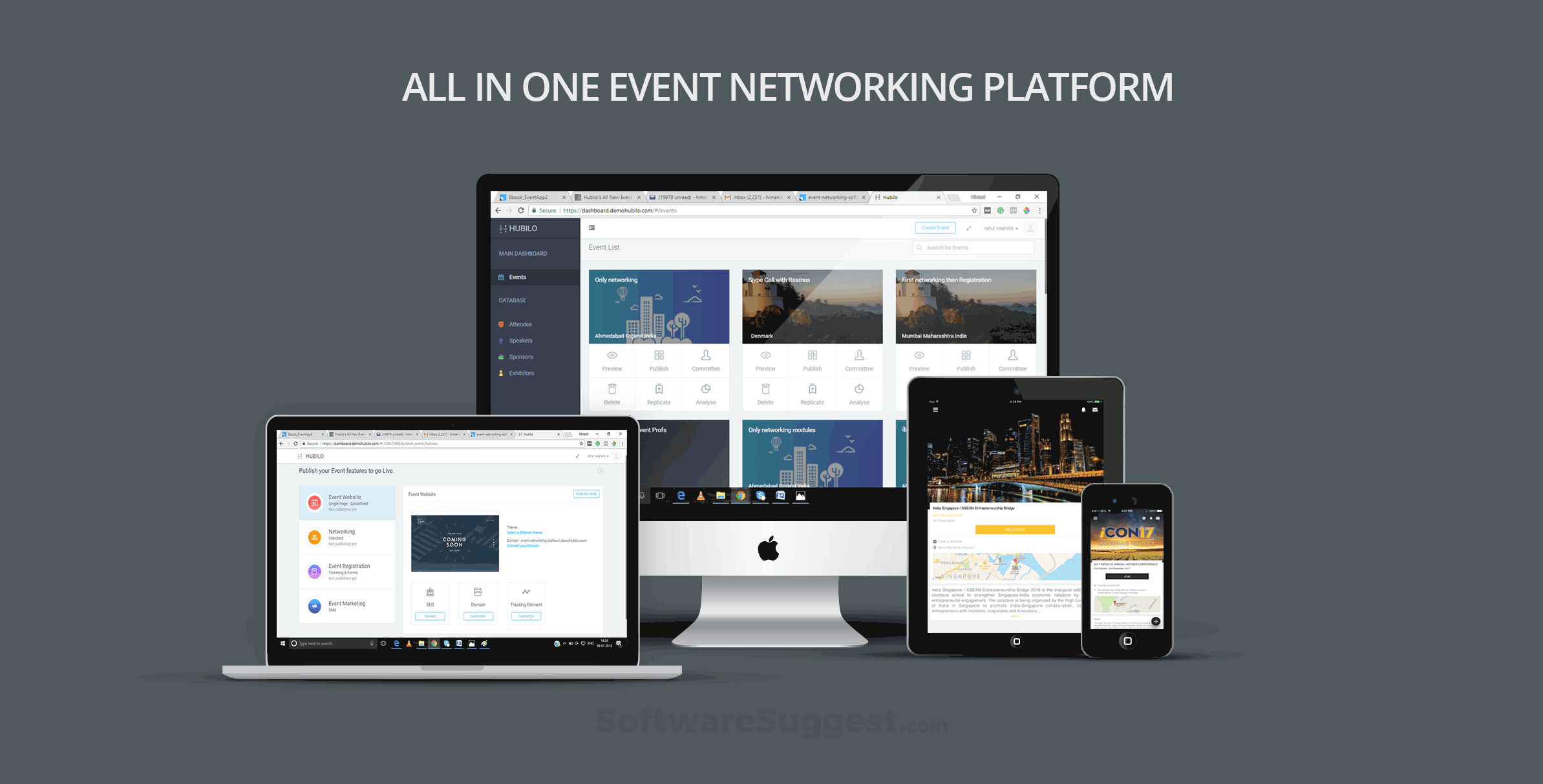 Whova vs Hubilo All-in-one Event Management Software
