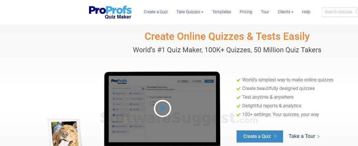 ProProfs Quiz Maker Pricing, Features & Reviews 2019 - Free Demo