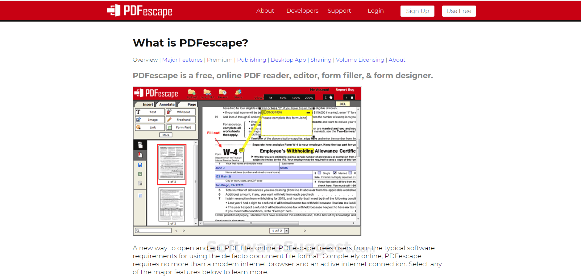 PDFescape Pricing, Features & Reviews 2019 - Free Demo