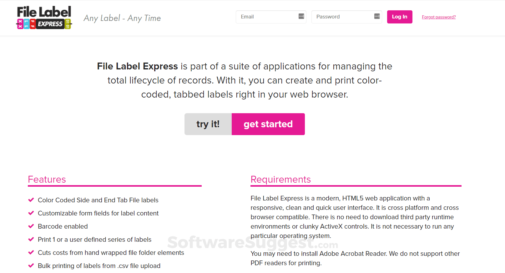 File Label Express Pricing, Features & Reviews 2019 - Free Demo