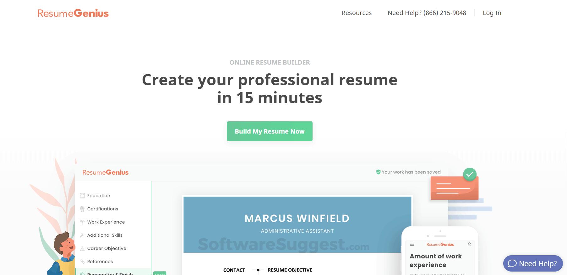 Resume Genius Pricing, Reviews, Features - Free Demo