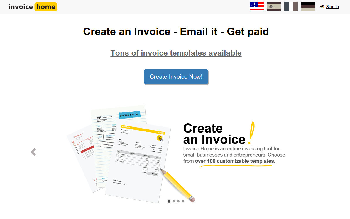 invoice home reviews pricing free demo and alternatives