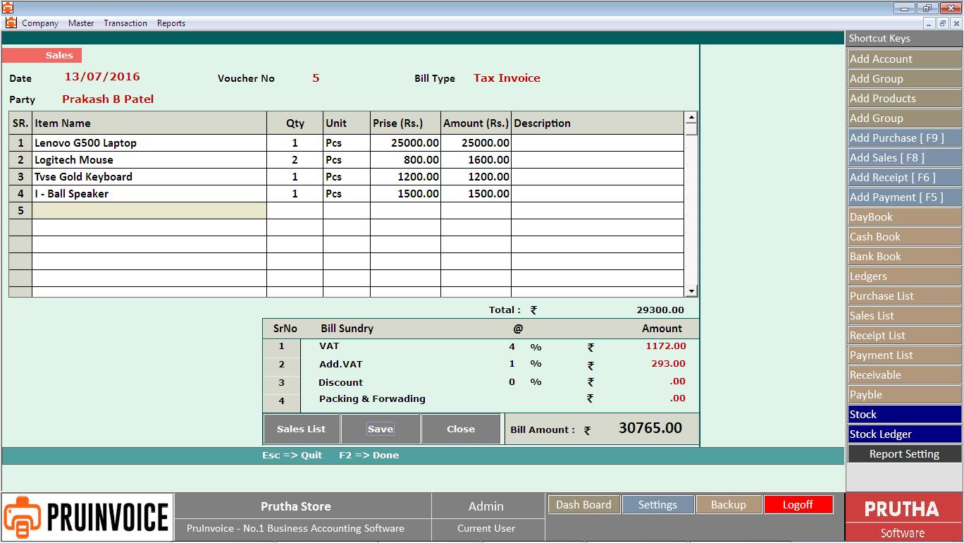 pruinvoice invoice printing software pricing reviews