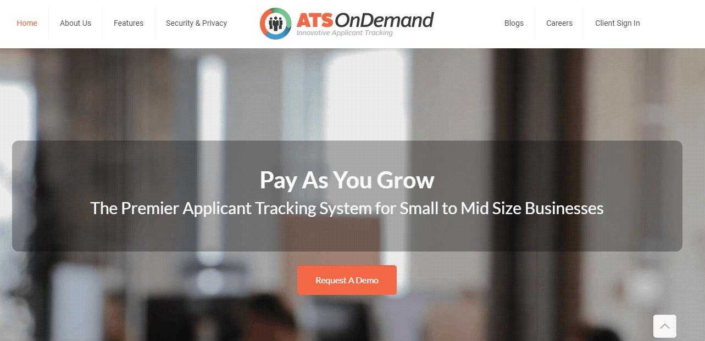 Ats On Demand >> Ats Ondemand Reviews Pricing Free Demo And Alternatives