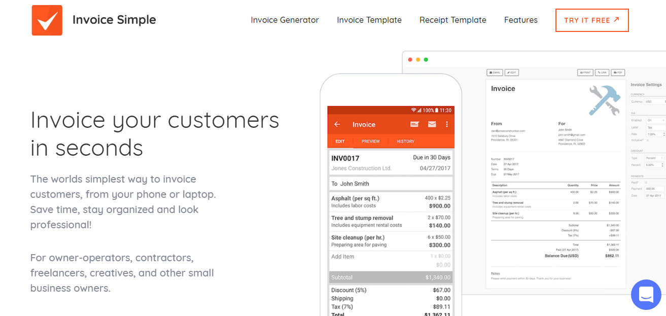 Invoice Simple Pricing Reviews Alternatives And Competitor In 2019