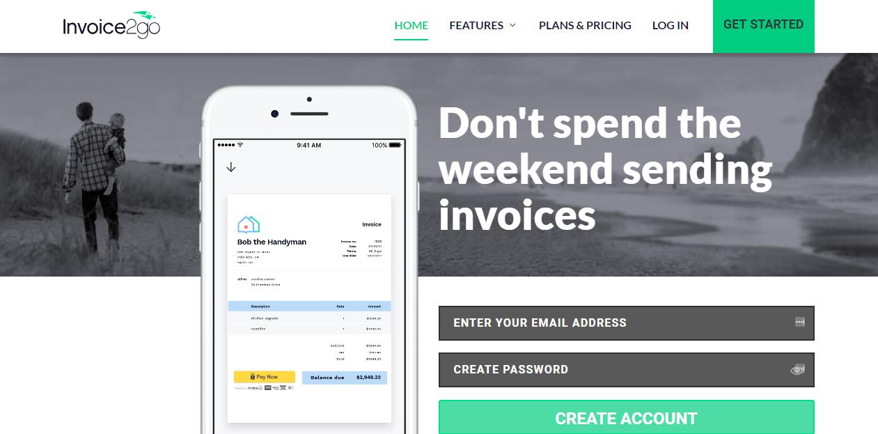 invoice2go screenshots
