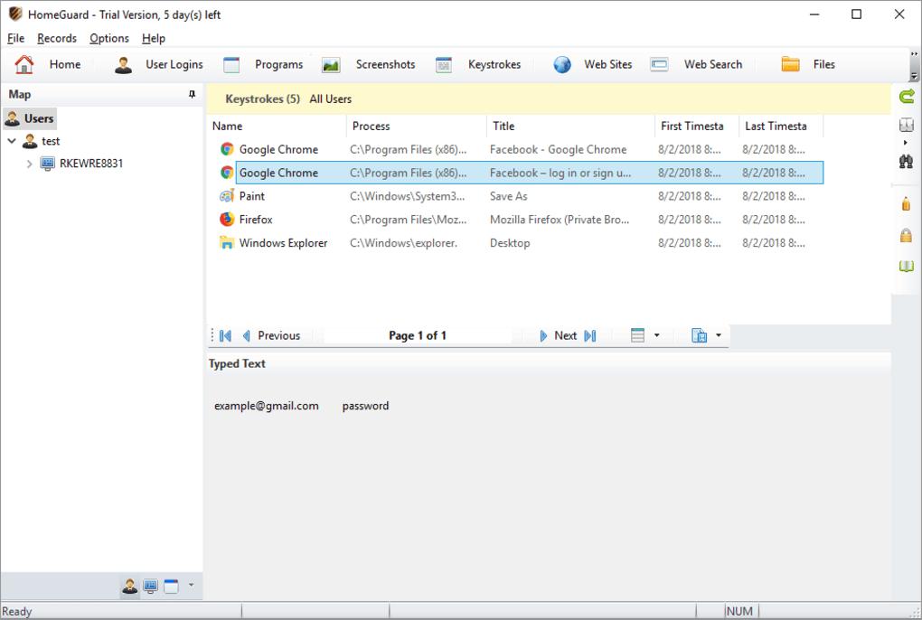 Gmail activity monitor
